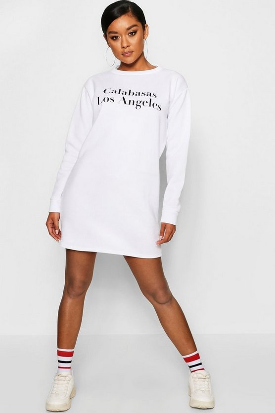 Calabasas Crew Neck Sweat Dress