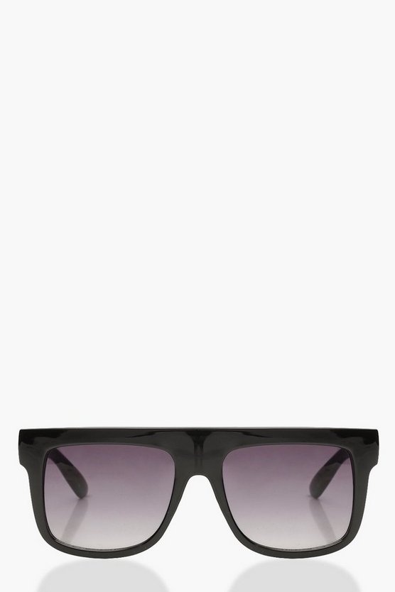 Black Oversized Square Plastic Sunglasses