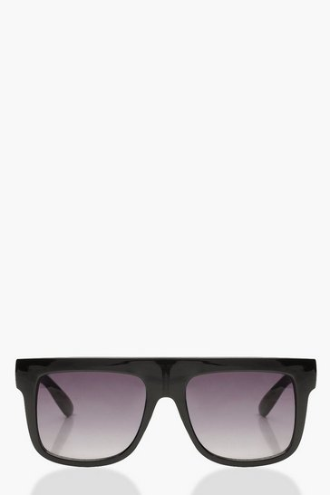 Womens Oversized Square Plastic Sunglasses