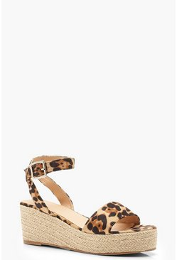 Leopard Low 2 Part Wedges