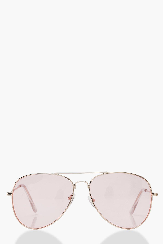 Pale Pale Pink Aviator Lens Pink SunglassesBoohoo Lens Owk8n0PXN