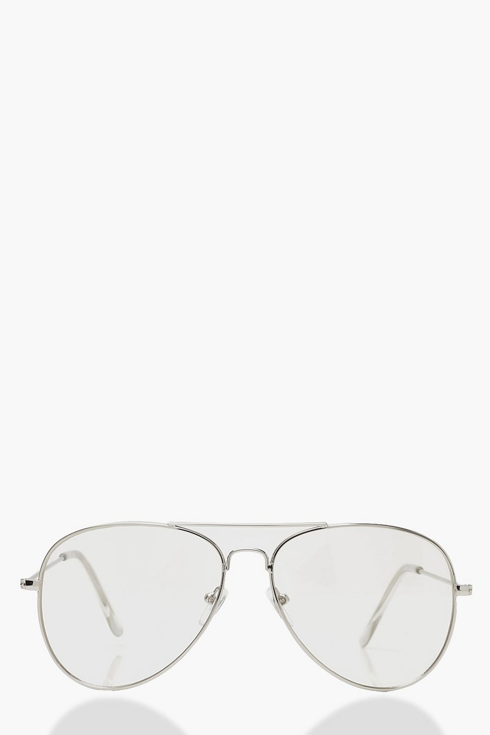 d9b90025f Womens Clear Lens Aviator Glasses. Hover to zoom