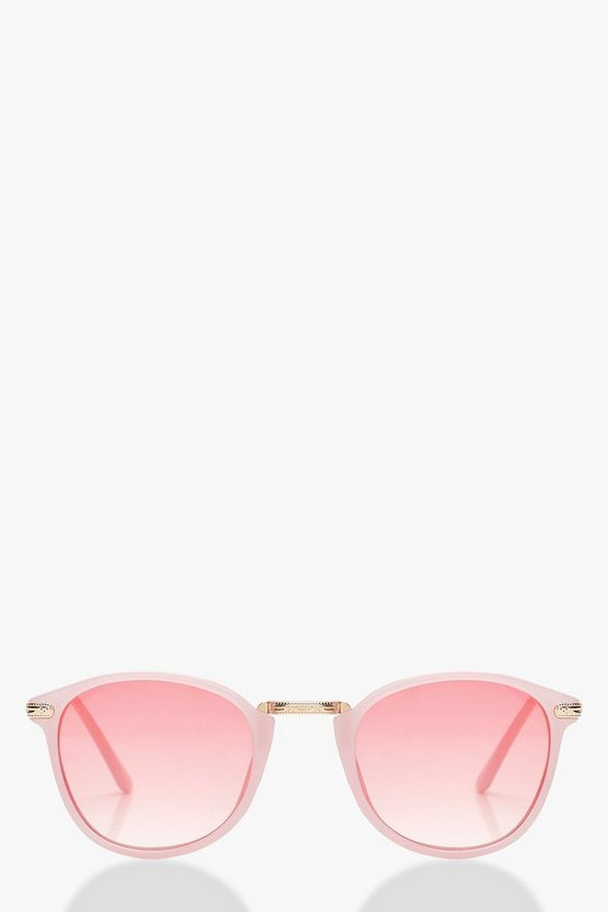 Pastel Pink Round Fashion Glasses