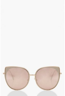 Womens Cat Eye Rose Sunglasses