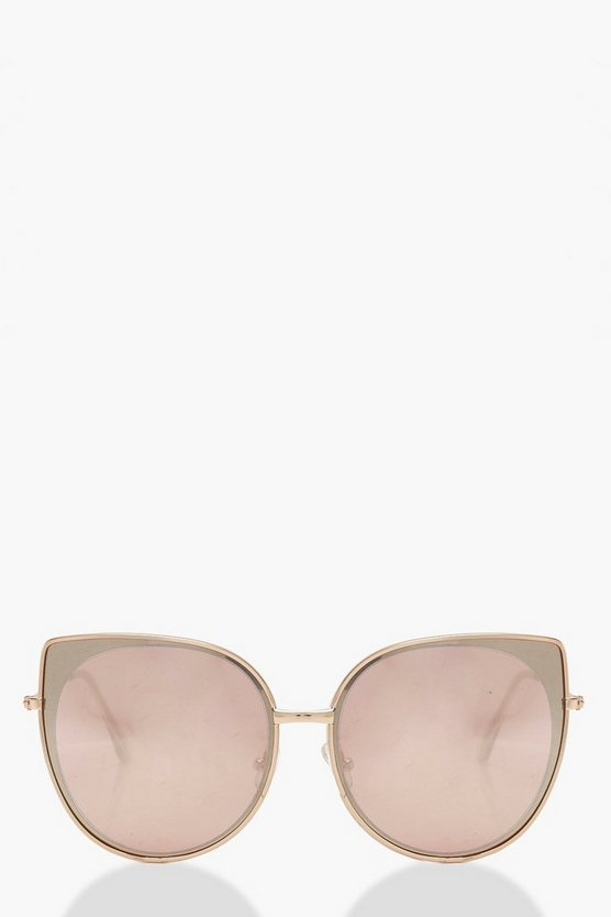 Cat Eye Rose Sunglasses by Boohoo