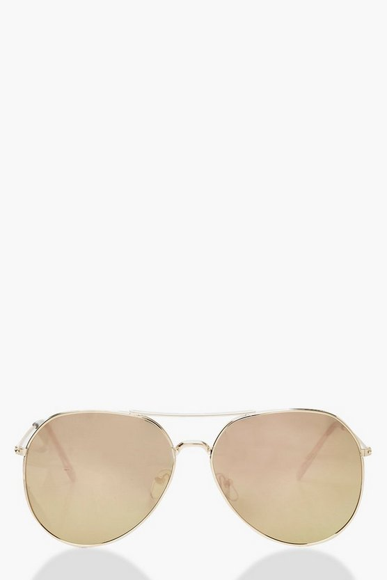 Mirrored Aviator Sunglasses, Multi, MUJER