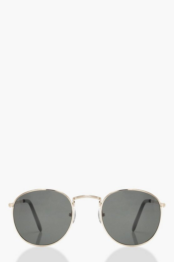 Classic Round Sunglasses With Case
