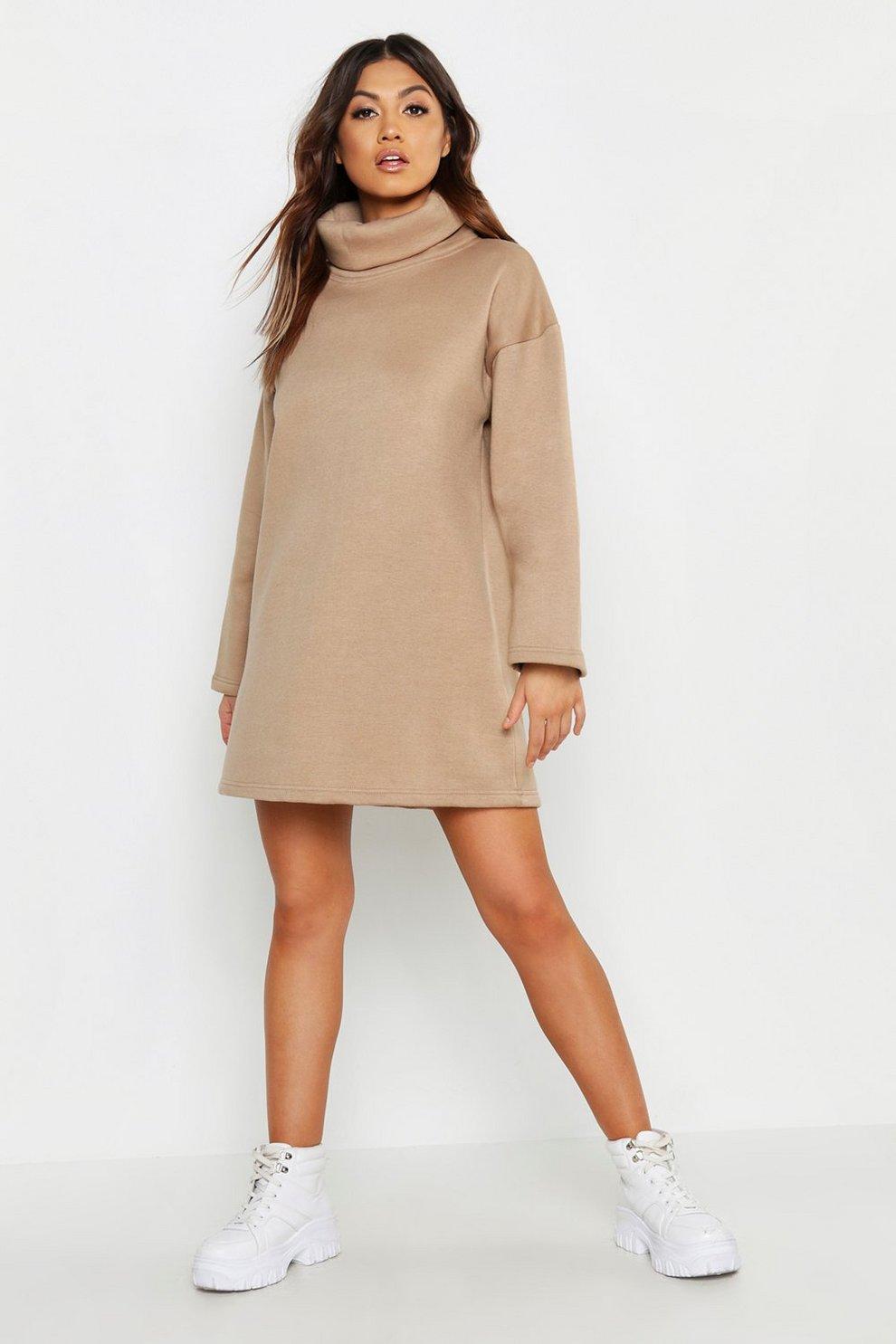 70a44e03e5b High Neck Oversized Sweatshirt Dress