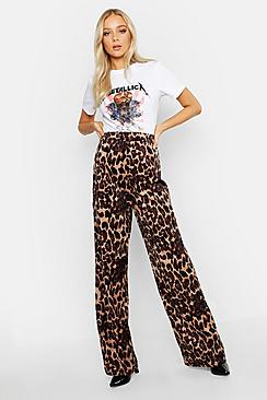 Leopard Cord Wide Leg Pants