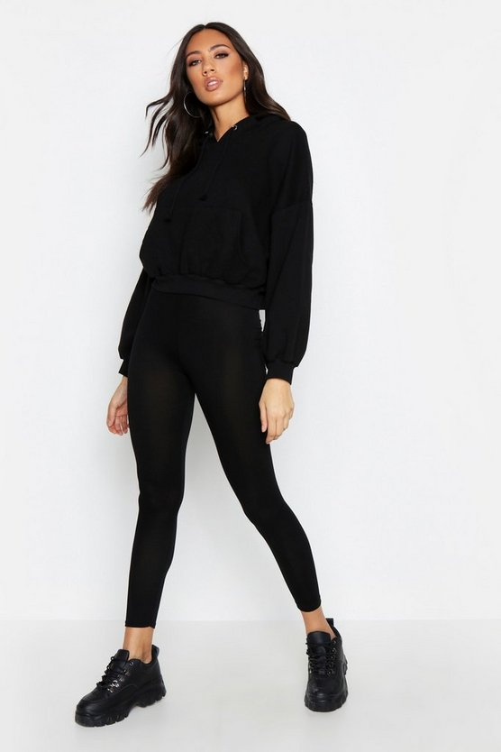Black Basic Jersey Legging