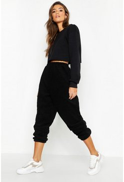 Supersoft Teddy Borg Jogger, Black, MUJER