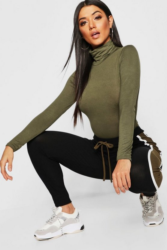 Roll Neck Jersey Bodysuit