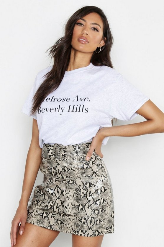 Melrose Avenue Slogan T-Shirt