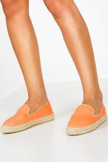 Womens Orange Wide Fit Espadrilles