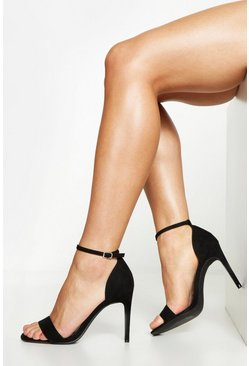 Wide Fit 2 Part Heels, Black, MUJER