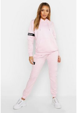 Womens Pink Woman Hoody & Jogger Tracksuit Set
