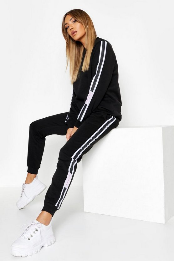 Felpa Woman Fit & Tuta da jogging, Nero, Femmina