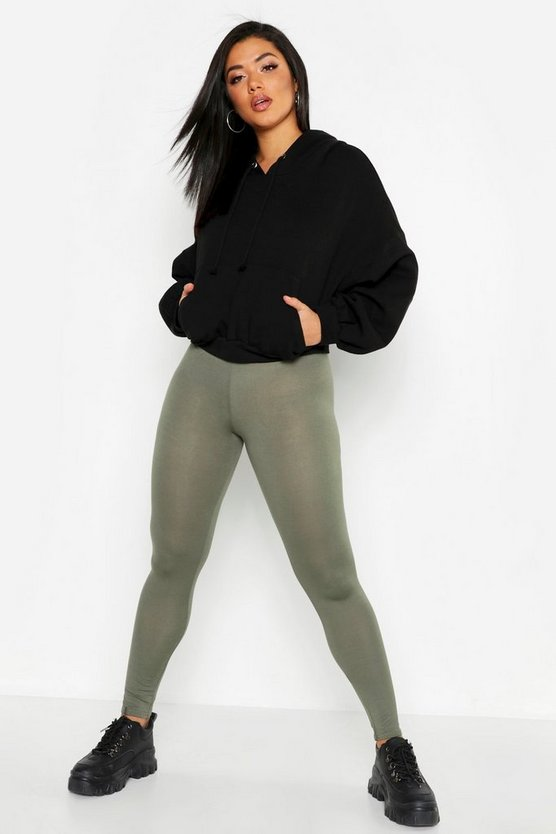 Womens Khaki Jersey Leggings
