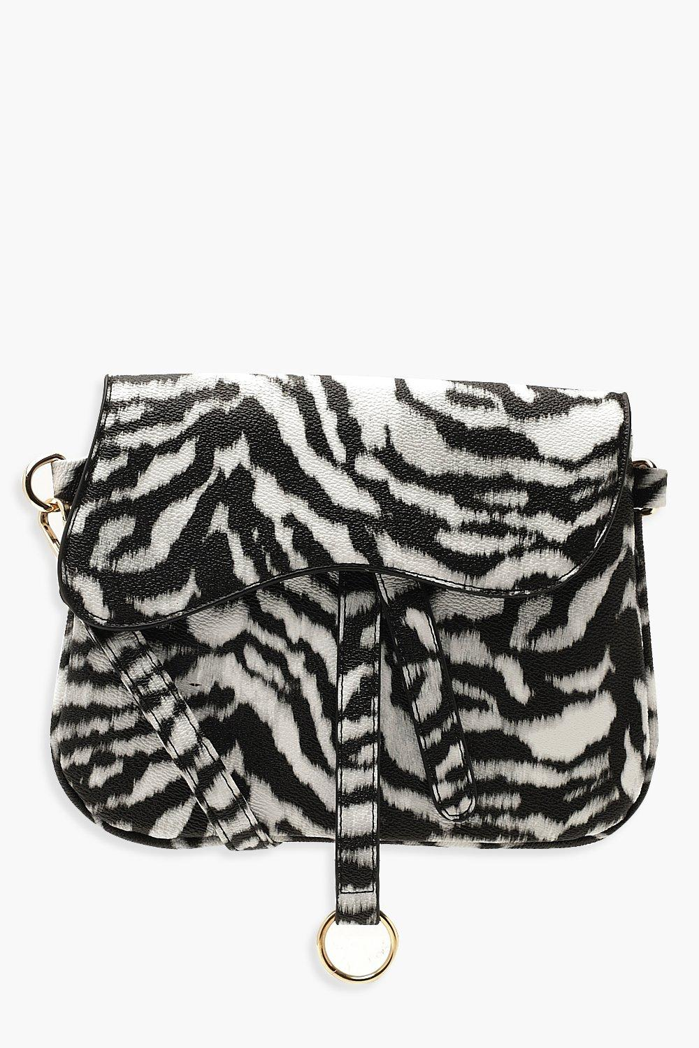 Wave Flap Zebra Cross Body