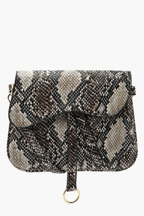 Wave Flap Snake Cross Body