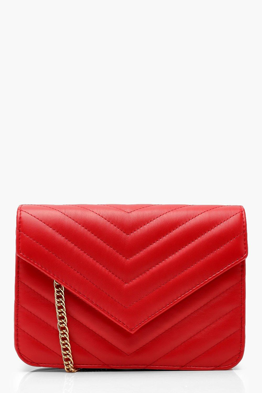 Structured Chevron Quilt Cross Body