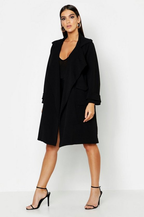 Large Collar Pocket Lightweight Duster
