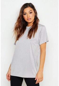 Womens Charcoal Fit Oversized Sports T-Shirt