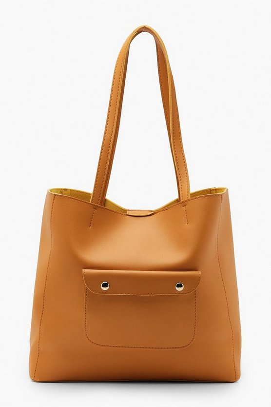 Pocket Front Tote Bag