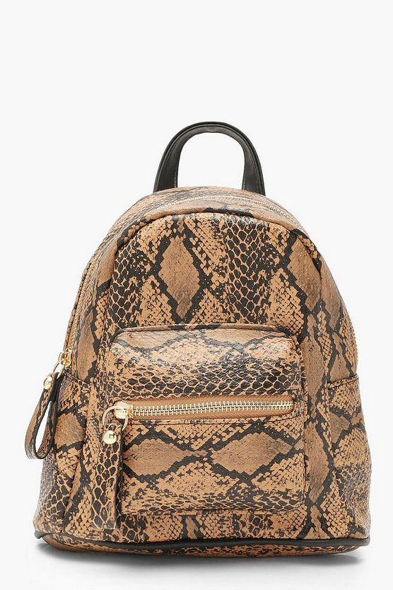 All Over Snake Mini Rucksack