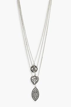 Boho Silver Layered Necklace