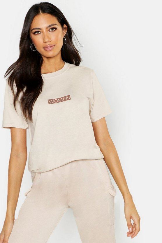T-Shirt mit Slogan Woman
