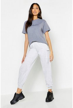Womens Grey Woman Cargo Jogger