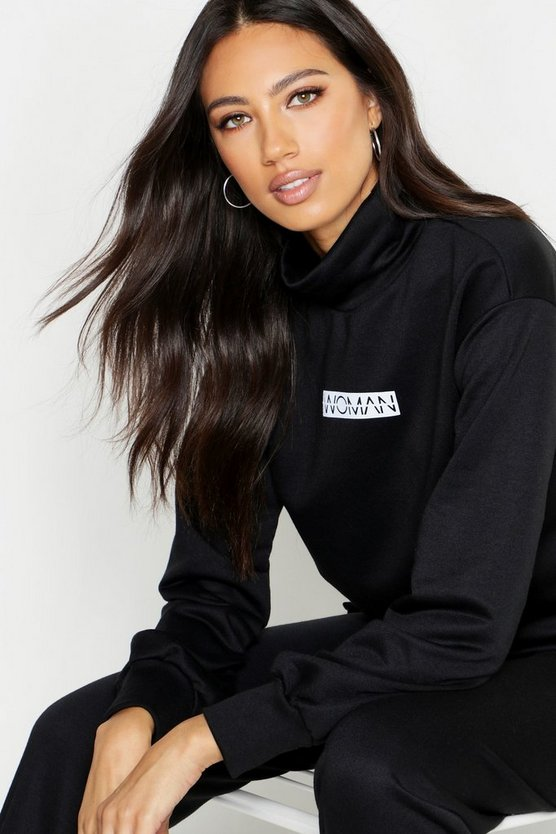 Woman Slogan Neck Sweat