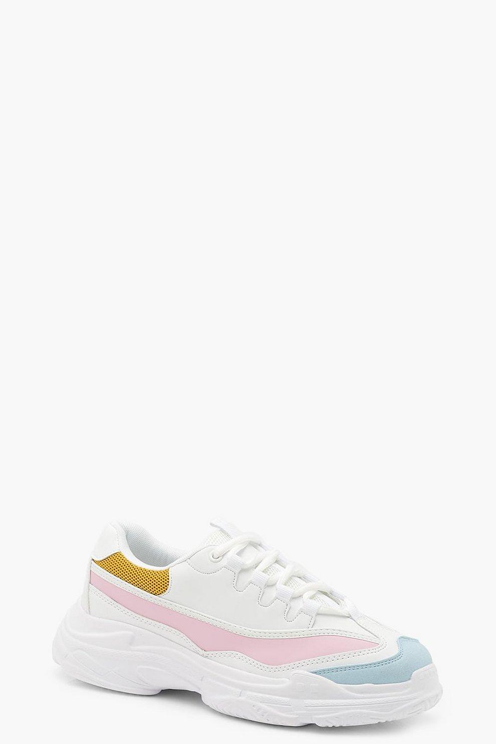 huge selection of f0eda f15fe Colorblock-Sneaker mit dicker Sohle   Boohoo