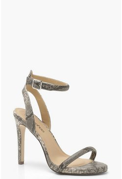 Grey Snake Two Part Heels