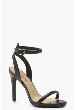 Black Lizard Two Part Heels