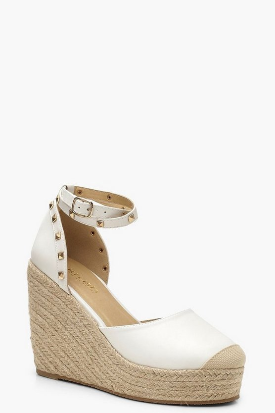 Studded Espadrille Wedges