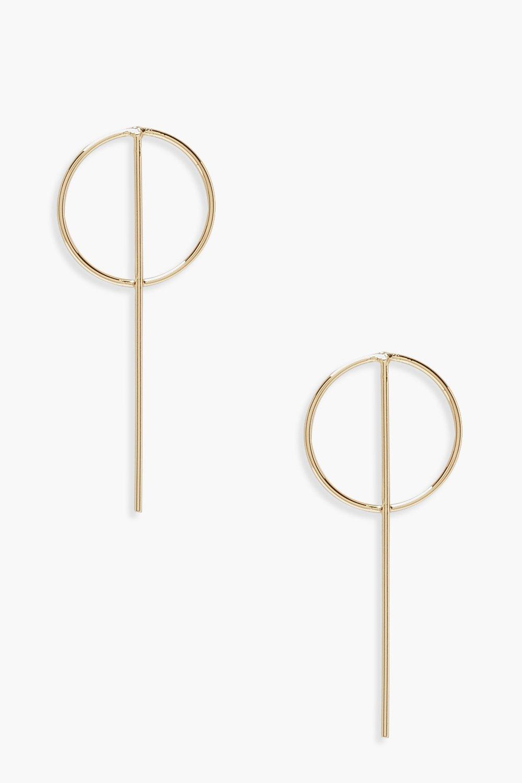 Bar & Circle Hoop Earrings
