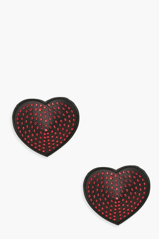 Diamante Heart Nipple Covers