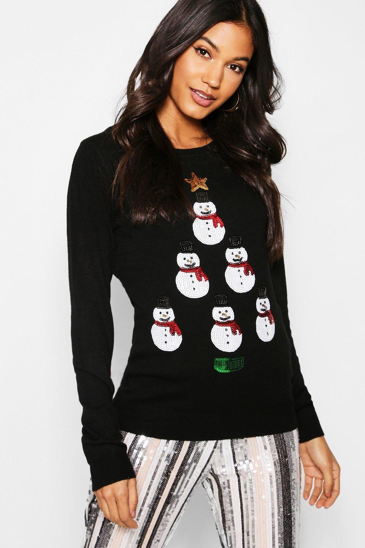 Snowman Tower Christmas Jumper