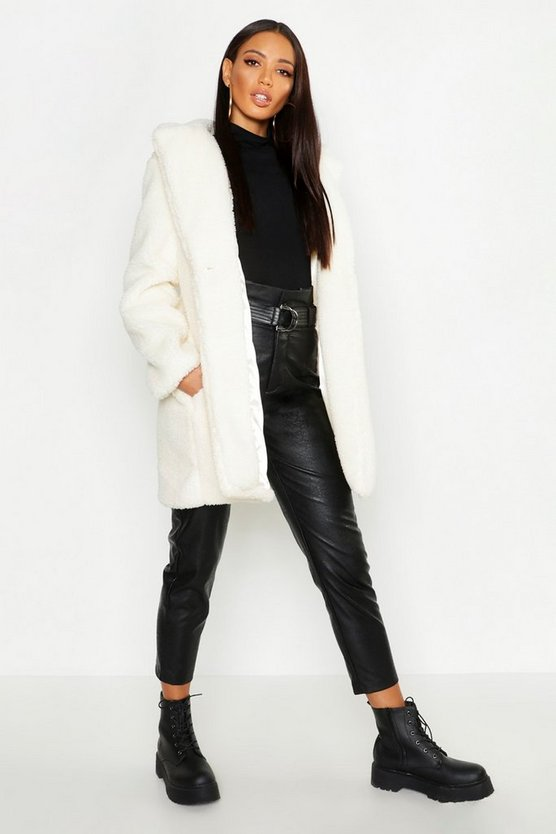 Collared Faux Fur Teddy Coat