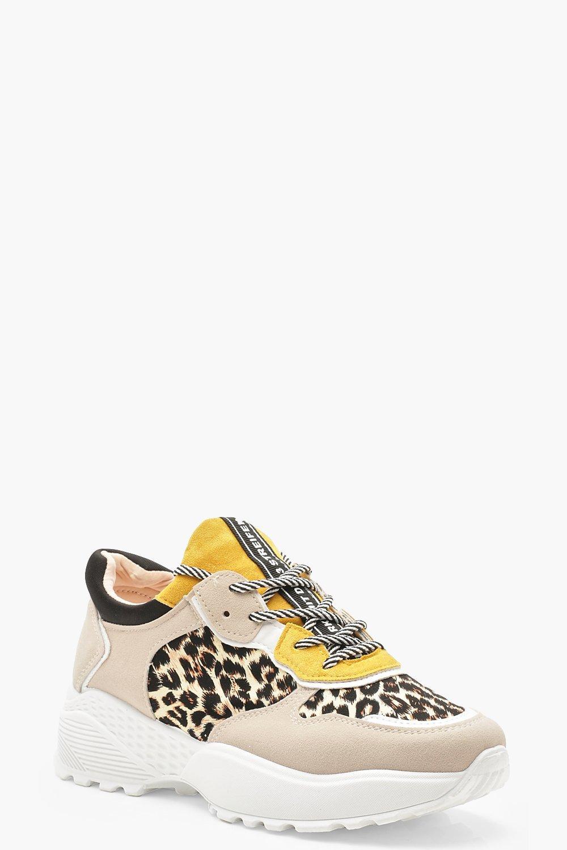 7fb54ee0e019d Close video. Womens Grey Colour Block Leopard Print ...