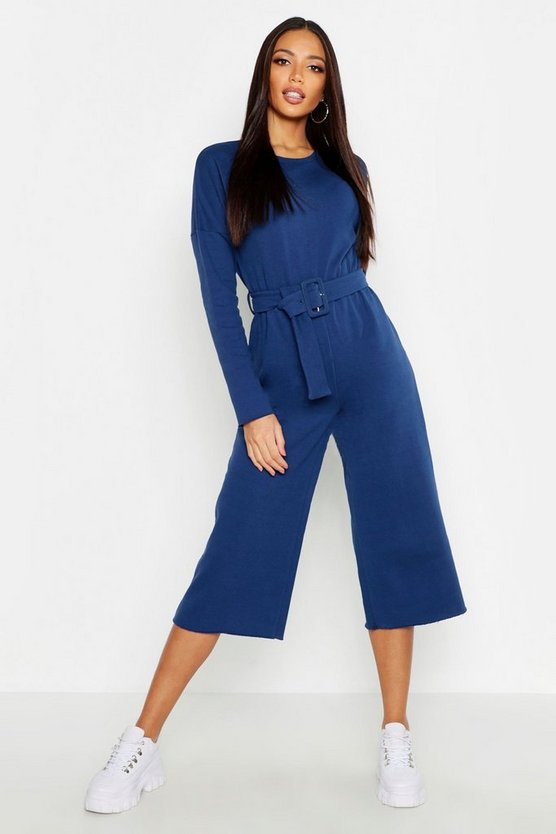 Belted Sweat Culotte Jumpsuit