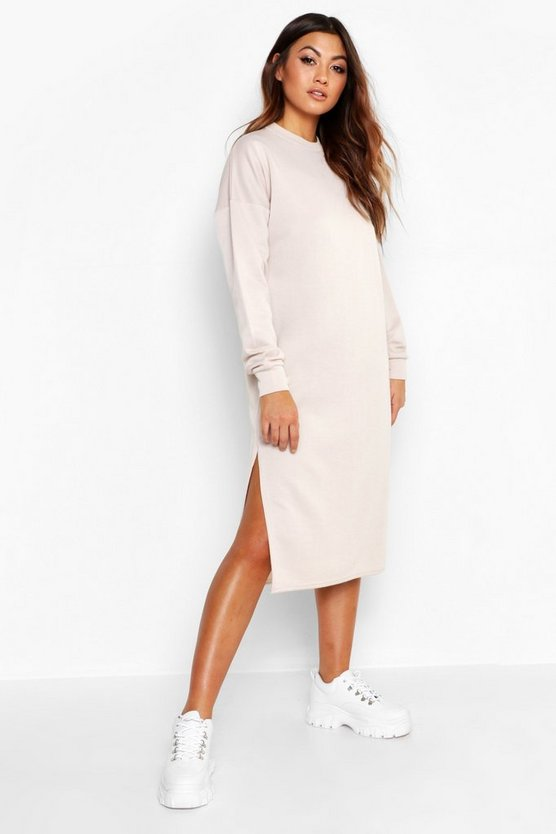 Split Midi Sweat Dress