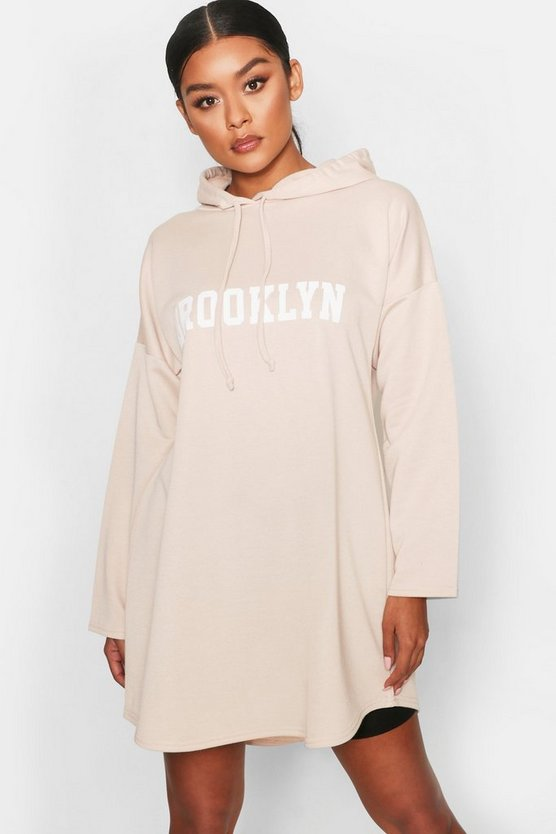 Brooklyn Hooded Swing Sweat Dress