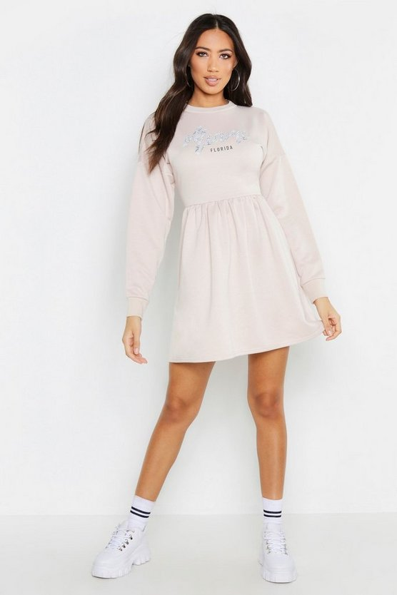 Miami Smock Sweat Dress