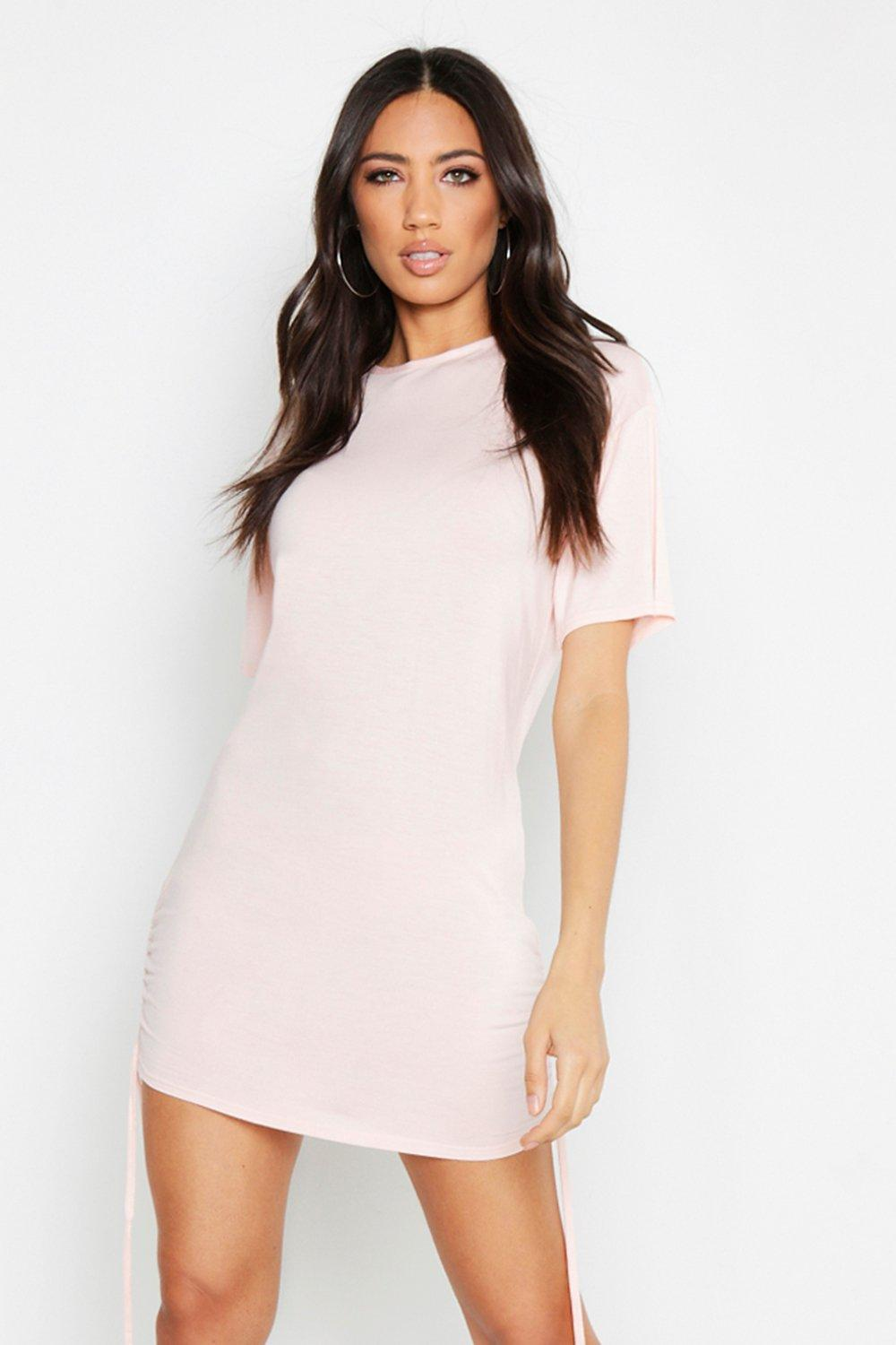 Ruched Side T Shirt Dress Boohoo