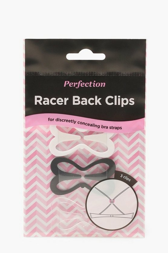 Womens Multi Racer Back Bra Clips 3 Pack