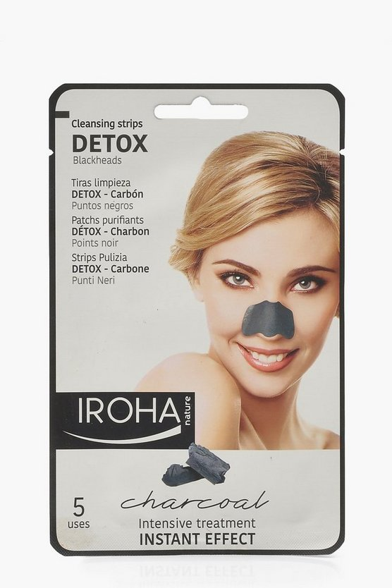 Womens Black Iroha Detox Cleansing Strips