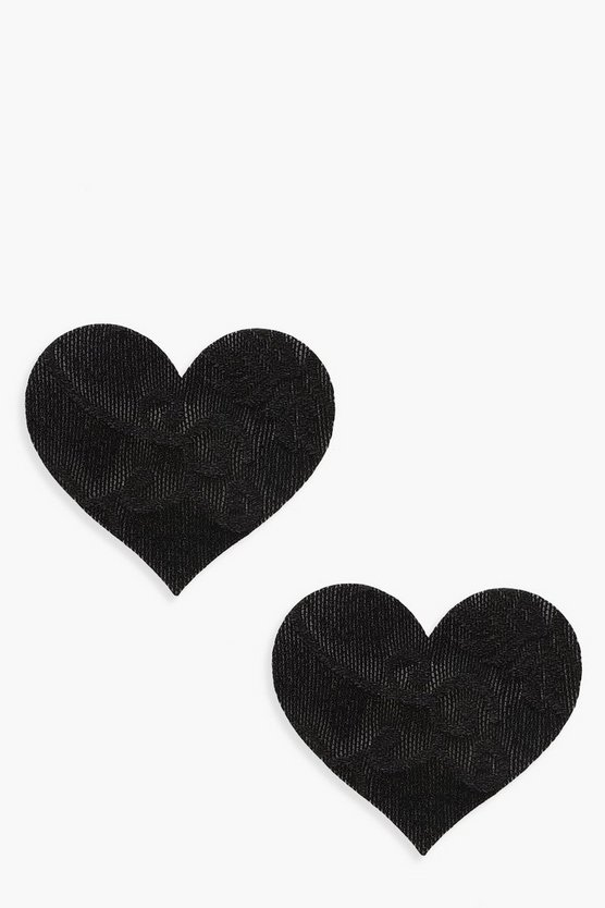 Lace Heart 3 Pack Nipple Covers